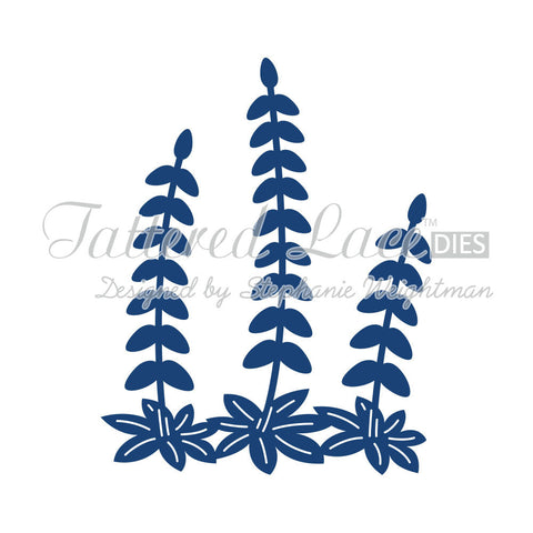 Lupins Tattered Lace Die Cut D393