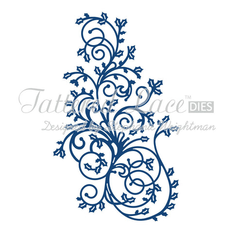 Holly Flourish D409 Tattered Lace Dies.