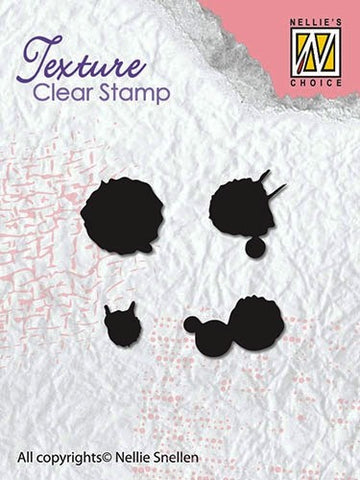 Ink Spatters Nellie Snellen Texture Clear Stamps TXCS007
