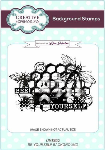 Bee Yourself Background Stamp UMS832 By Lisa Horton For Creative Expressions