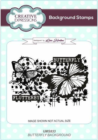 Butterfly Background Stamp UMS833 By Lisa Horton For Creative Expressions