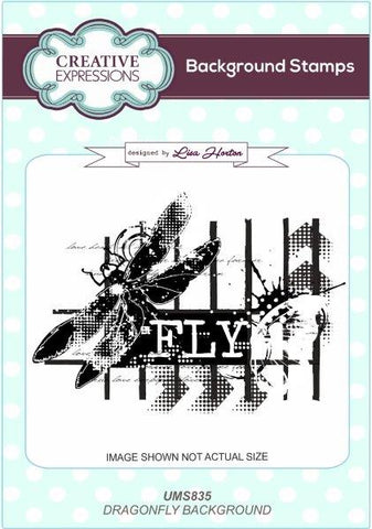 Dragonfly Background Stamp UMS835 By Lisa Horton For Creative Expressions