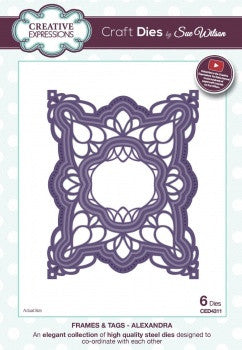 NEW!! Creative Expressions Craft Dies by Sue Wilson - Frame and Tags Collection - Alexandra