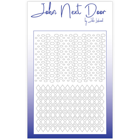 John Next Door Mask Stencil - Duo Mask Argyle