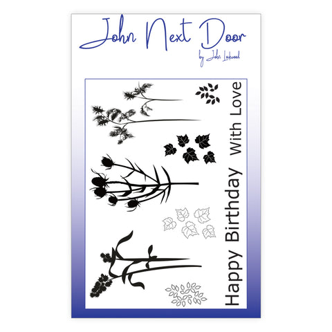 John Next Door Clear Stamp - Autumn Flowers 9 pcs JND0003