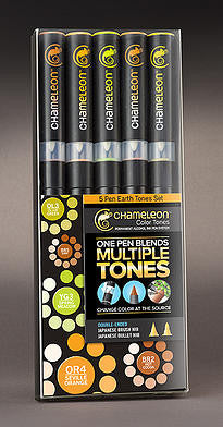 Earth Tones 5 Pen Set By Chameleon CT0503