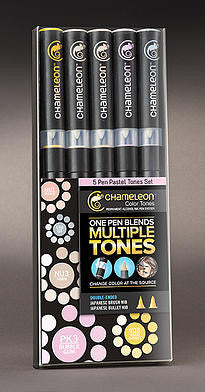Pastel Tones 5 Pen Set By Chameleon CT0501