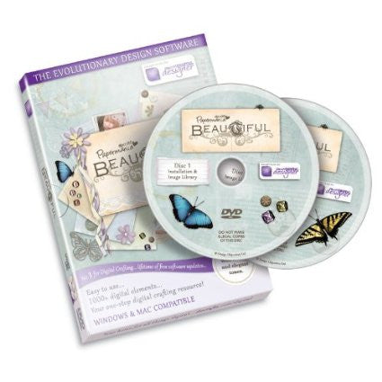 Papermania - Beautiful (Double DVD-ROM) Craft CD Computer Template Software by Docraft