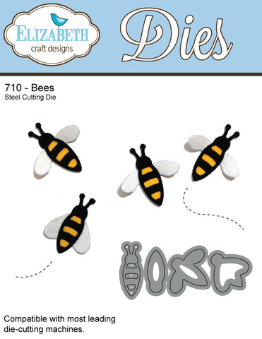Bees - 710 by Elizabeth Craft Designs
