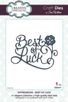 Creative Expressions Craft Dies by Sue Wilson - Expressions Dies - Best of Luck