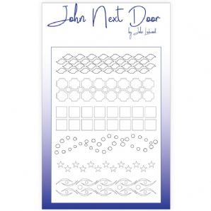 NEW John Next Door Mask Stencil - A5 Borders