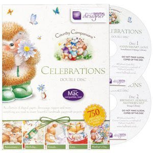 Country Companions 'Celebrations' Double Disc -Template Craft Image Design Software Computer DVD CD-ROM by Docraft