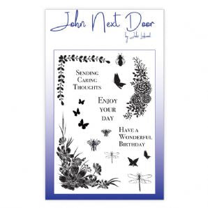 NEW John Next Door Clear Stamp - Butterfly Corners 17pcs