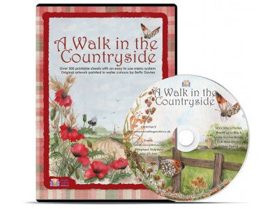 A Walk In The Countryside Papercraft CD ROM