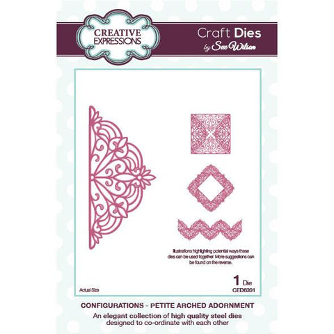 Configurations - Petite Arched Adornment CED6301 Creative Expression Die Cuts