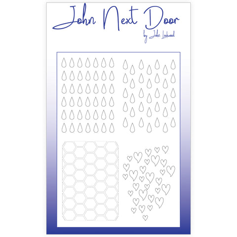 John Next Door Mask Stencil - Quatro Drops