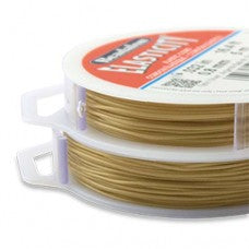 Beadalon Elasticity 0.8mm Satin Gold Round 5m Reel TRC371