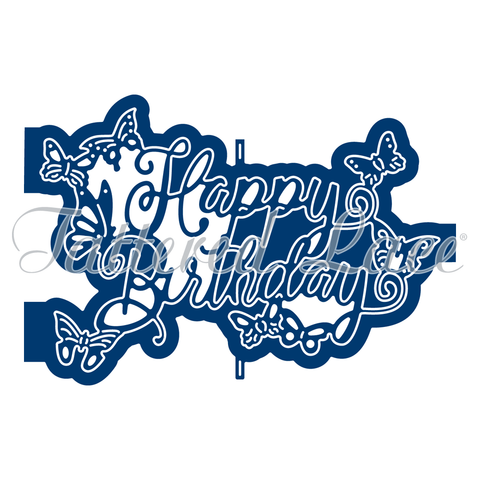 Ornamental Happy Birthday (D1288) By Tattered Lace