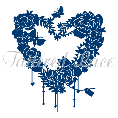 Floral Heart Die Essentials By Tattered Lace ETL276