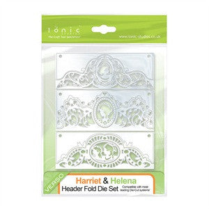 Harriet & Helena Header Fold Die Set 57e By Tonic Studios