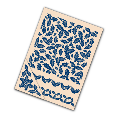 Embossing Folder Holly (EF074) By Tattered Lace