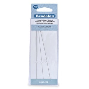 "Beadalon Collapsible Big Eye Beading Needles 5"" 3 Pack  or Assorted 6 Pack TRC264"
