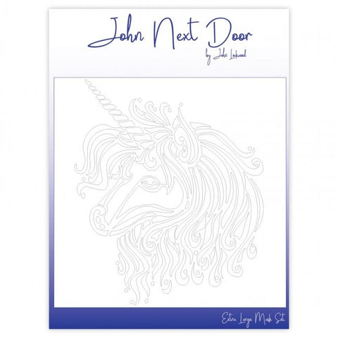 John Next Door Mask Stencil - Unicorn 12 x 12 JNDM0018