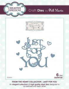 Just For You Die From the Heart Collection by Phill Martin Creative Expressions CEDPM1006