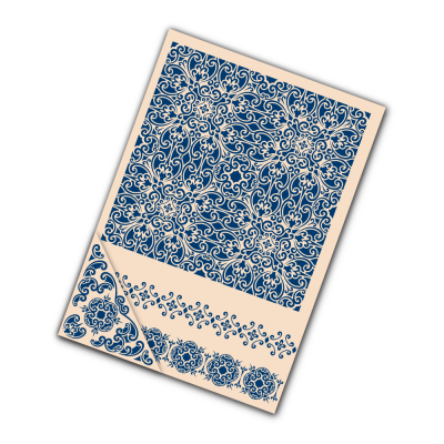 Embossing Folder Ornamental (EF038) By Tattered Lace