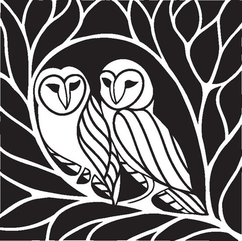Claritystamp Ltd Owl Square - Unmounted Clear Stamp