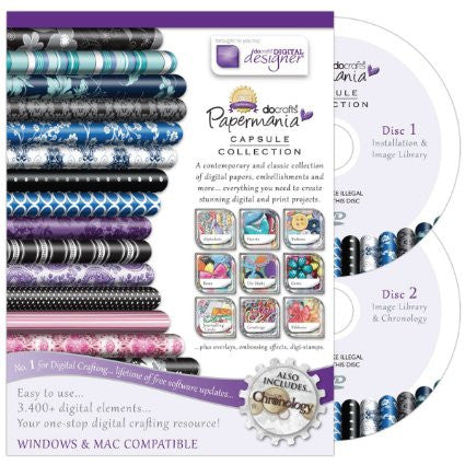 Papermania 'Capsule Collection' Double Disc - Template Craft Image Design Software Computer DVD CD-ROM by Docraft