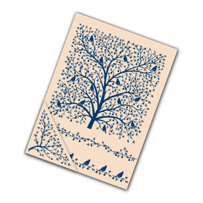 Embossing Folder Partridge in a Pear Tree (EF075) By Tattered Lace