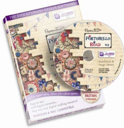 Papermania 'Portobello Road' British Collection Disc CD ROM by Docraft