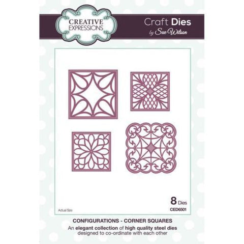 Configurations - Corner Squares Craft Die By Sue Wilson CED6501