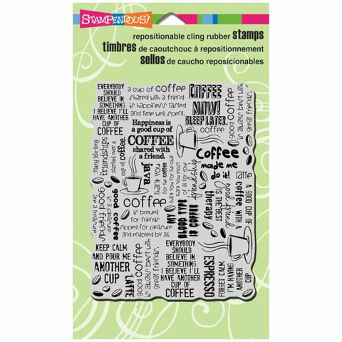 Cling Coffee Background Stampendous Fran's Cling Rubber Stamps CRR198
