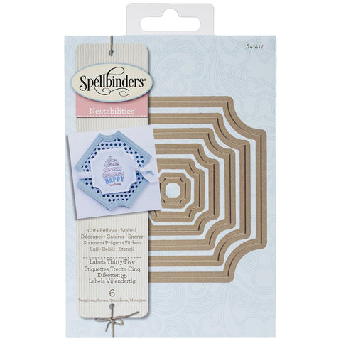 Labels Thirty Five Nestabilities Dies by Spellbinders S4-417