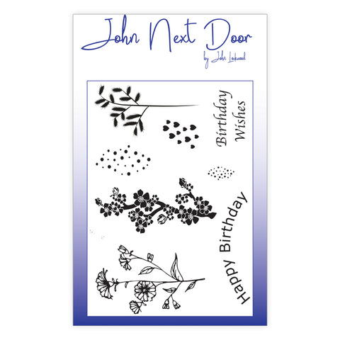 John Next Door Clear Stamp - Spring Flowers 8 pcs JND0001