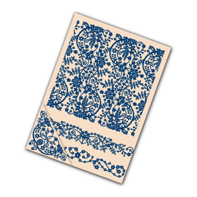 Embossing Folder Spring (EF040) By Tattered Lace