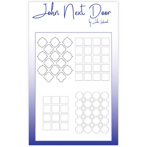 NEW John Next Door Mask Stencil - Quatro Squares