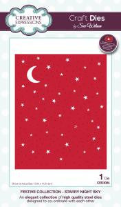 Starry Night Sky Festive Collection Dies Creative Expressions by Sue Wilson CED3084