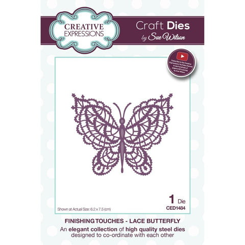 Lace Butterfly Finishing Touches Collection By Sue Wilson Creative Expressions CED1484