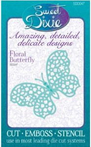 Floral Butterfly Die By Sweet Dixie SDD047