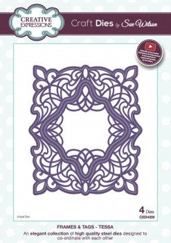 NEW!! Creative Expressions Craft Dies by Sue Wilson - Frame and Tags Collection - Tessa