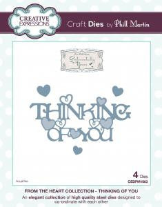 Thinking Of You From the Heart Collection Die by Phill Martin Creative Expressions CEDPM1003