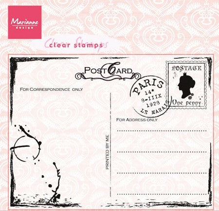 Marianne Design Clear Stamps - Postcard CS0935