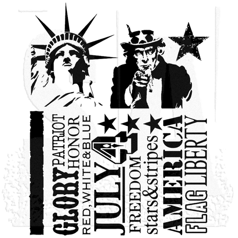 Stampers Anonymous Americana Silhouettes By Tim Holtz