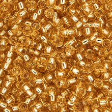 Gold Silver Lined Miyuki 11/0 Approx Seed Beads 22g TRC346