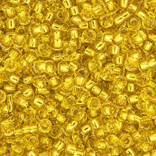 Yellow Silver Lined Miyuki 11/0 Seed Beads Approx 22g TRC375