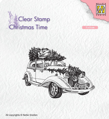 Christmas Tree Transport Clear Stamp Christmas Time Nellie Snellen CT031