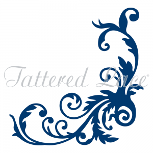 Tumbling Flourish D473 Die Cut By Tattered Lace